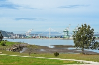 Port of Oakland from Middle Harbor Shoreline Park