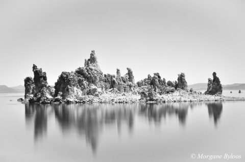 Mono Lake in B&W