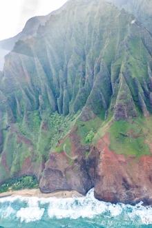Kauai from a helicopter - Na Pali coast