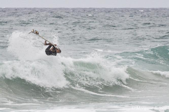 Surfer at Kealia Beach