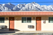 Trails Motel and Eastern Sierras in Lone Pine, CA
