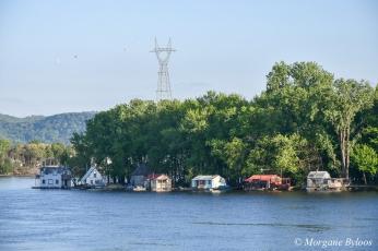 Winona, MN: Latsch Island houseboats