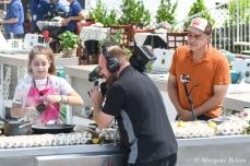 Master Chef Junior contestant Alexis Higgins and Iron Chef Michael Symon