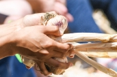 40th Gilroy Garlic Festival - garlic braiding