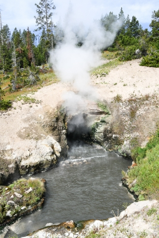 Yellowstone: Mud Volcano Area - Dragon's Mouth Spring