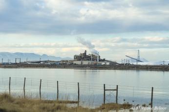 Morton Salt plant at Great Salt Lake, Utah - I-80