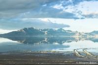 Bonneville Salt Flats at Great Salt Lake, Utah - I-80