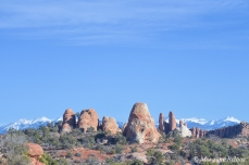 Arches NP with La Sal Mountains